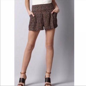 LOFT Pleated Printed Shorts NWOT